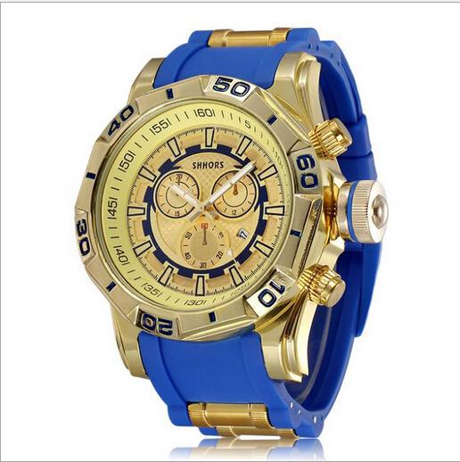 Big Dial Men Sports Luxury Brand Geneva Quartz Watch Fashion Silicone Strap Students Analog Date Wrist Watches Relojes Hombre(China (Mainland))