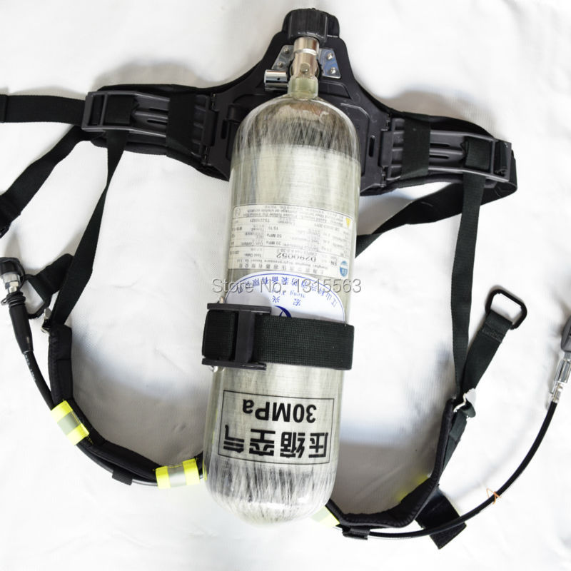 SCBA RHZK 6.8L/30 scba self-rescue positive air breathing apparatus with full face mask for fire fighting<br>