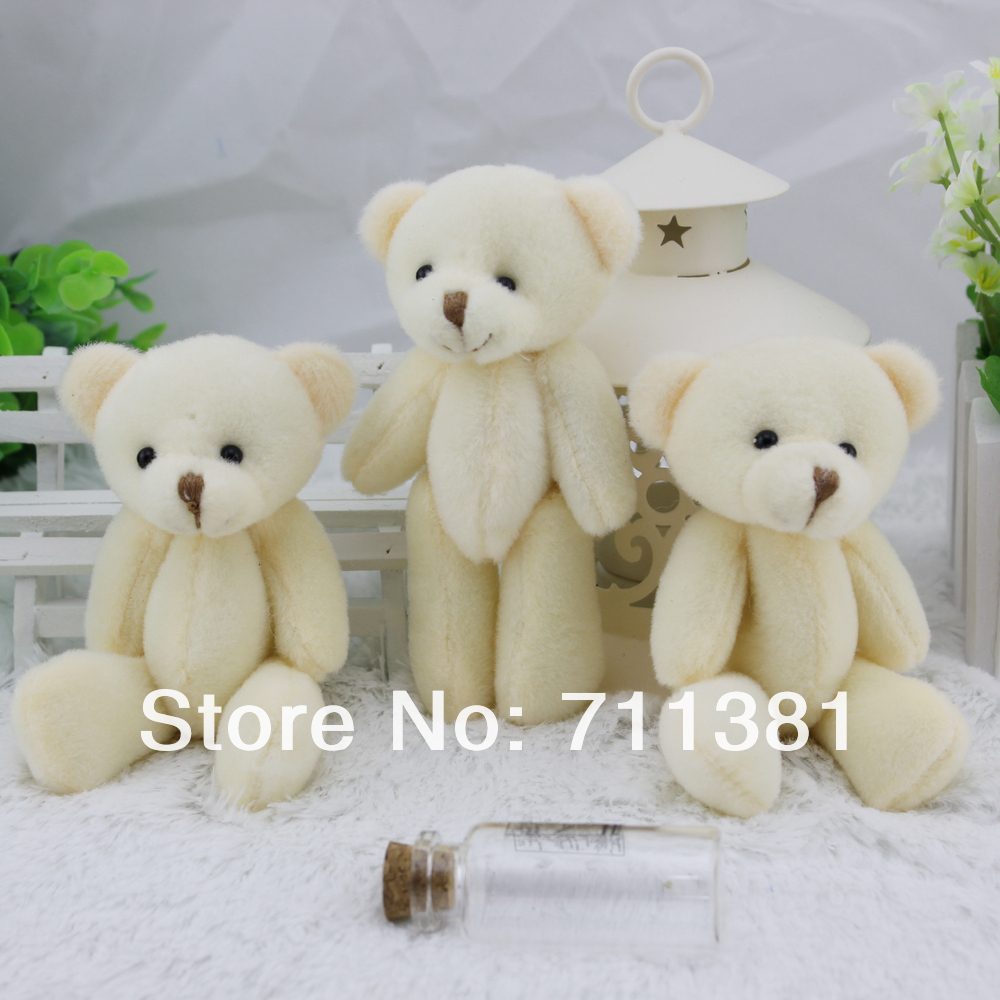Free shipping, Wholesales Cute Plush Animals Teddy Bear Mobile Phone Charm Cell phone strap Bag pendant keychain toy(China (Mainland))