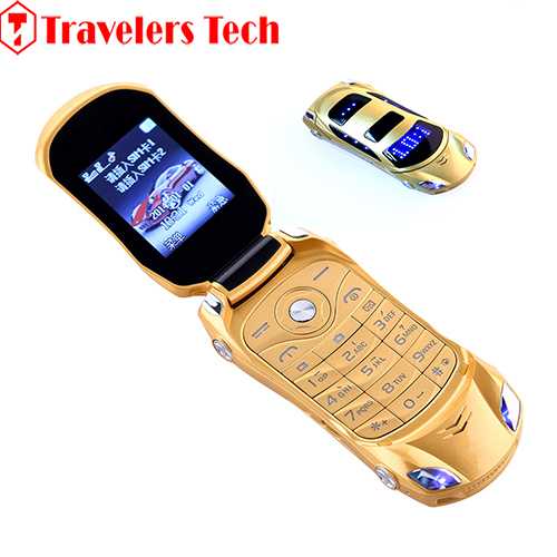 NEWMIND F15 China Cheap Flip Car Shaped Mini Mobile Phone With Dual SIM Card FM Radio Bluetooth LED Flashlight 7color Available(China (Mainland))