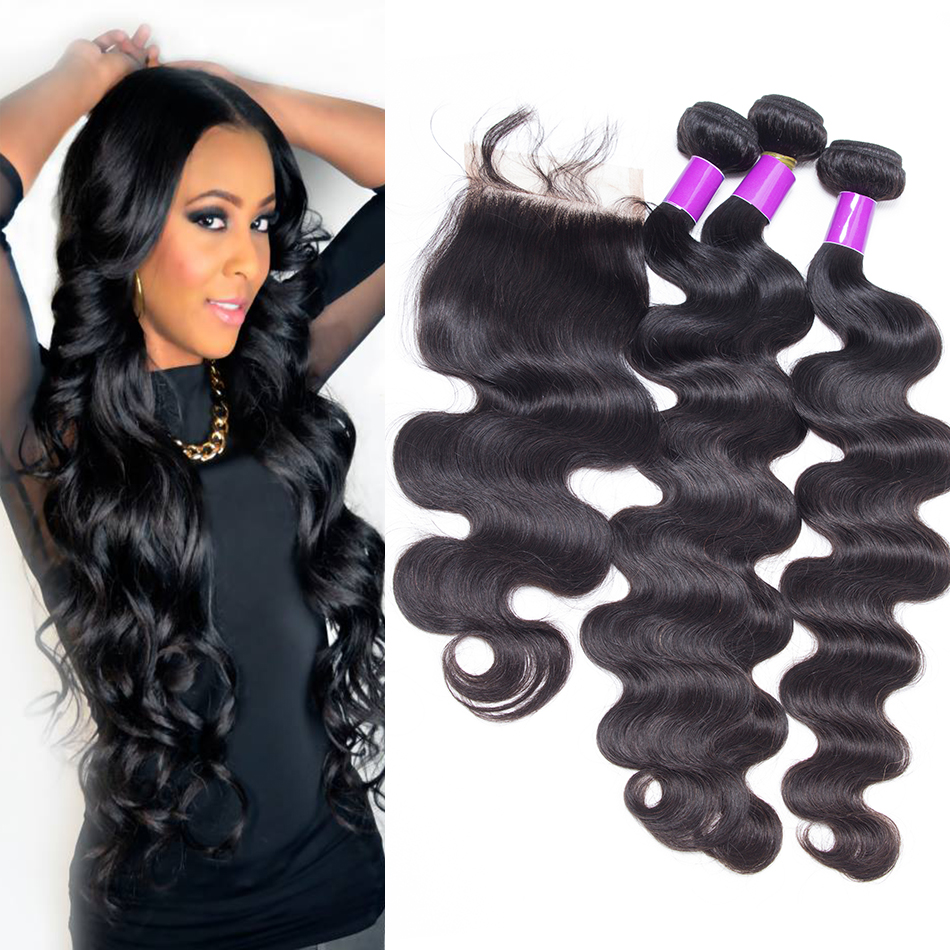 Brazillian Body Wave With Closure Rosa Brazilian Hair Weave Bundles With Closure 7a 3 Part Closure With Bundles Nice<br><br>Aliexpress