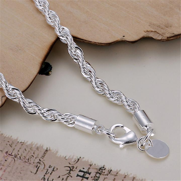 Bracelet 925 Silver Bracelet 925 Silver Fashion Jewelry For Men Women Bracelets Wholesale Free Shipping