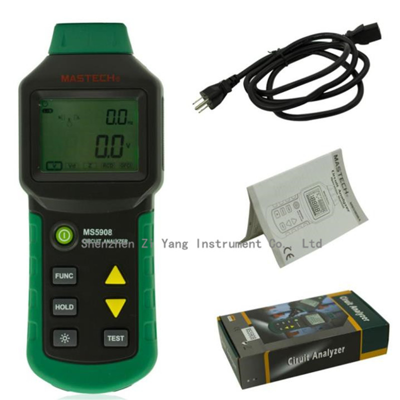 Household Circuit Tester : Ms trms voltage gfci rcd tester circuit analyzer fit