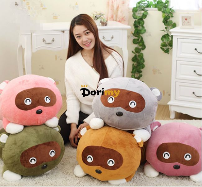 Dorimytrader 1 pc 31'' / 80cm Cute Soft Giant Large Stuffed Animal Raccoon Toy, 5 Colors Available, Free Shipping DY60084(China (Mainland))