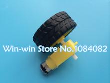 1set=2pcs DC motor + supporting wheels , a / smart car chassis , motor / robot car wheels(China (Mainland))