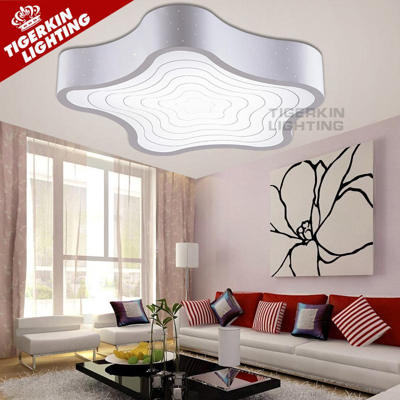 New 2016 modern led ceiling lights for living room bedroom acrylic shade+iron body Starfish shape home ceiling lamp plafon led(China (Mainland))