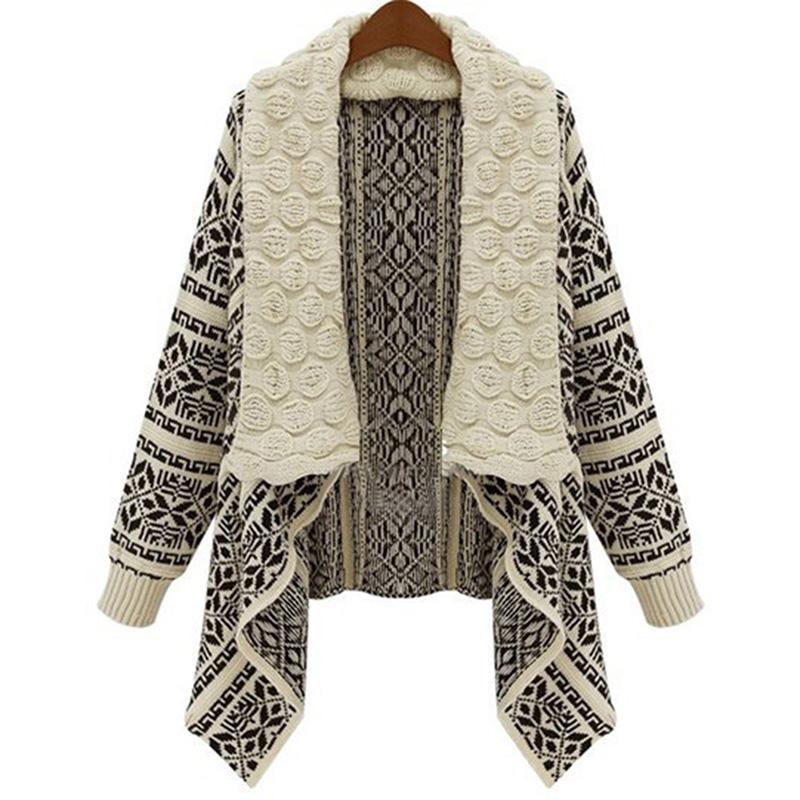 New Women Long Sleeve Knitted Cardigan Loose Sweater Outwear Jacket Coat Hot Sale P1