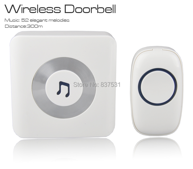 Гаджет  52 classical melodies of wireless Doorbell with Remote control,Chime Radio distance reach 300 meters door bell None Аппаратные средства