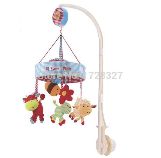 The music box music plush animal rotating bed bell baby mobile crib baby toys for newborns WJ045(China (Mainland))