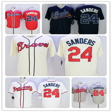 2016 New Fabric Flexbase Version 24 Deion Sanders Throwback Color Red White black Gray Jersey(China (Mainland))