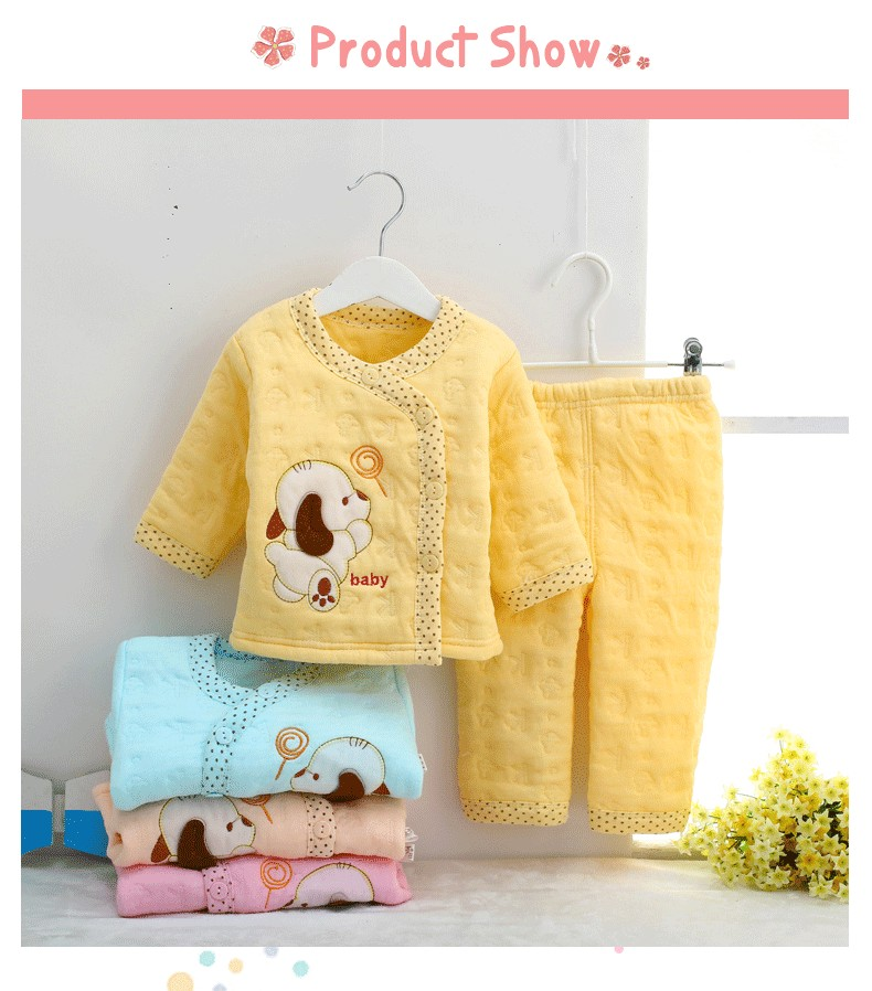 Hot Baby Clothes Sets 100% Cotton Baby Girl Clothes Lovely 4 Colors Boys Girls Sets Cute O-Neck Infant Clothes MT001
