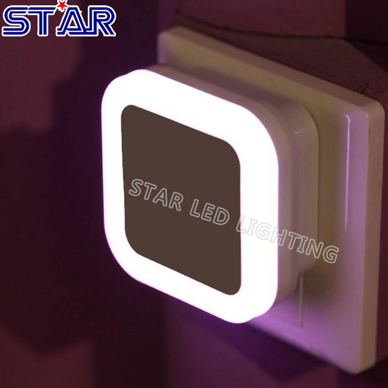 Creative Plug Socket Automatic Energy Saving Nightlight Light Sensor Control LED Wall Night Light Indoor Bedroom Decoration Lamp(China (Mainland))