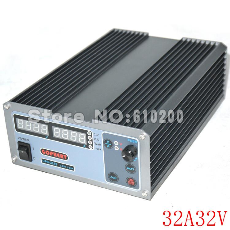 New upgrade Compact Digital Adjustable DC Power Supply OVP/OCP/OTP MCU Active PFC 32V32A 170V-264V + EU + Cable<br><br>Aliexpress