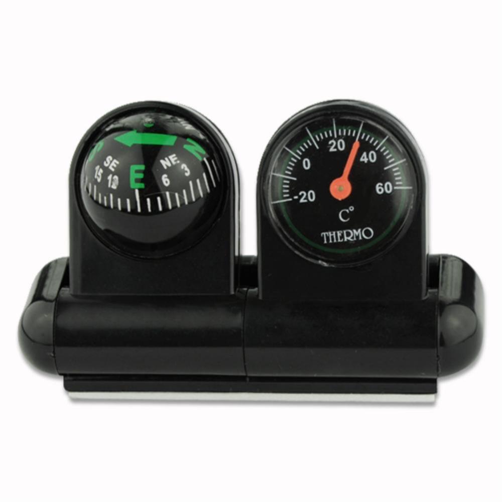 Auto Navigating Vehicle Car Compass Ball & Thermometer EG0022 bussola compass camping y senderismo equipamento barometer watch(China (Mainland))