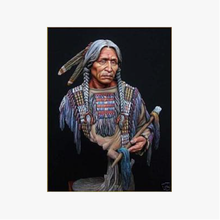 Gray Resin Figure Model 1:10 Indian Elderly Bust Item172 Resin Soldier Model (free shipping)