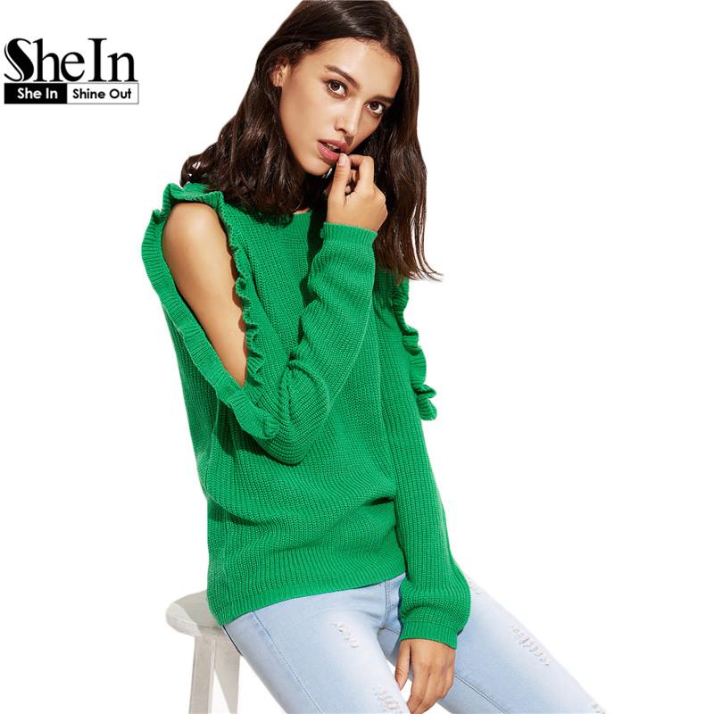Online kaufen gro handel offene schulter pullover aus for Shein frauen mode