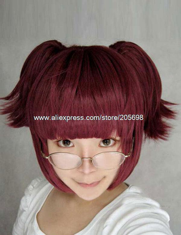 Гаджет  Black Butler Wine Red Short Hair Maylynn Cosplay Wig anime halloween christmas Free Shipping None Изготовление под заказ
