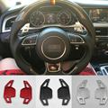 Aluminium steering wheel DSG paddle shifters for Audi A4L A5 A6L A8 Q5 Q7 2008 2012