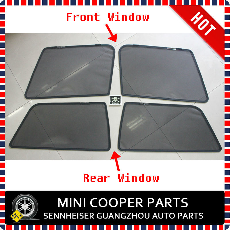 Hot Sale 1 set Black Car Sunshade Auto Accessories Car Styling Car Sun Visor Window Sun Visor For mini cooper F56(China (Mainland))