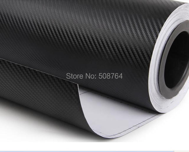 127cm *20cm High quality 3D Carbon Fiber sheet film Vinyl Car Sticker Carbon fiber sheet  black blue white orange golden Red