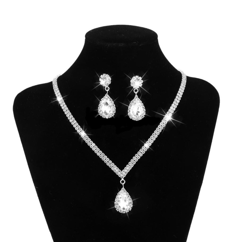 wedding accessories jewelry sets for brides necklace and earring set