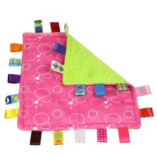 35*35cm Baby Appease Square Towel Baby Calm Infant Comfort Towel Toy Plush Colorful Soft (China (Mainland))