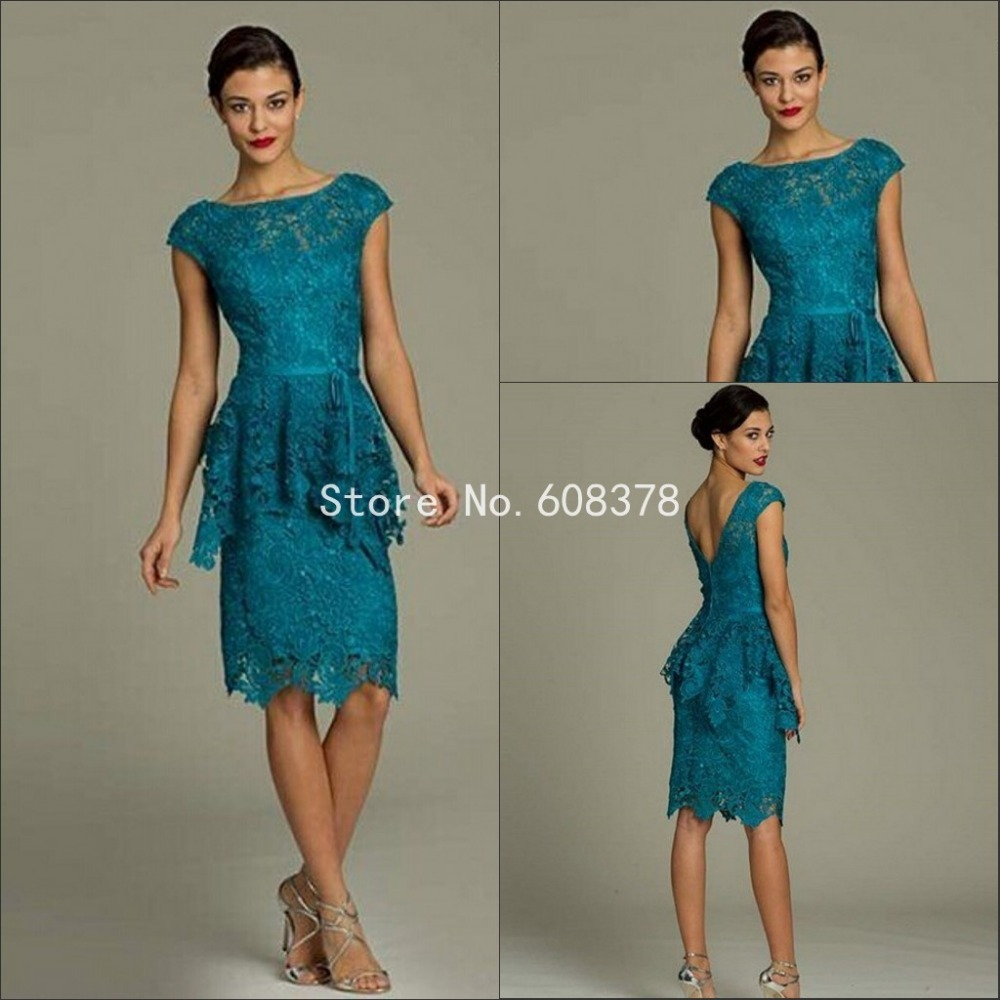 Lace mother of the bride dresses 2015 summer style knee for Summer wedding mother of the bride dresses
