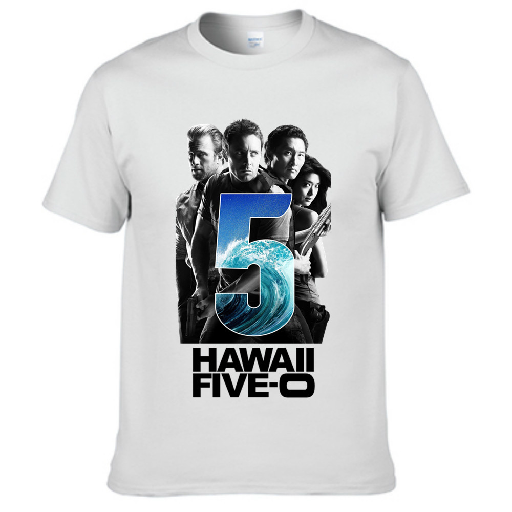 Mens tee shirt 2016 summer hawaii five o tv show poster for Tahari t shirt mens
