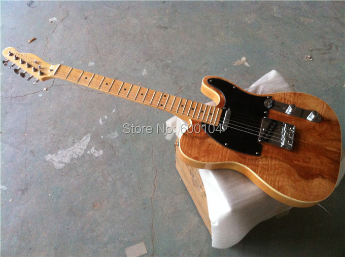 factory direct sale electric guitar F guitar Tele Natrual color cream paint bass wood boay 6 strings Free shipping(China (Mainland))