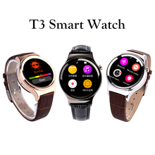 2016 New Arrival SmartWatch T3 Smart watch Support SIM SD Card Bluetooth WAP GPRS SMS MP3 MP4 USB For iPhone And Android
