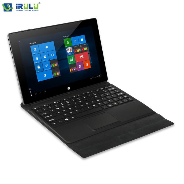 Irulu Walknbook 10.1 Windows10 четырехъядерных процессоров 2 ГБ / 32 ГБ ROM 1280 X 800 IPS микро-hdmi 2-в-1 планшет PC компьютер съемная клавиатура с подставкой