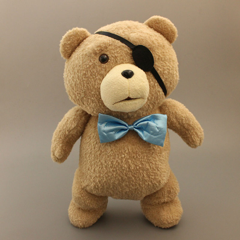 New Teddy Bear TED Plush Toys with Blue Tie Soft Stuffed Animal Dolls Pirate Teddy Bear Classic Toy 45CM 18'' Kids Gift(China (Mainland))