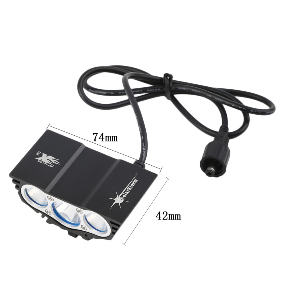 6000 Lumen 3x CREE XM-L U2 LED Head Front Bicycle bike HeadLight Lamp Light Headlamp 6400mAh Battery with Charger free shipping<br><br>Aliexpress