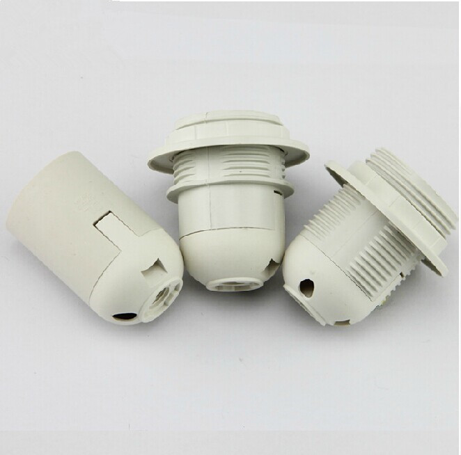e27 plastic lamp holder electric light socket lamp cap. Black Bedroom Furniture Sets. Home Design Ideas