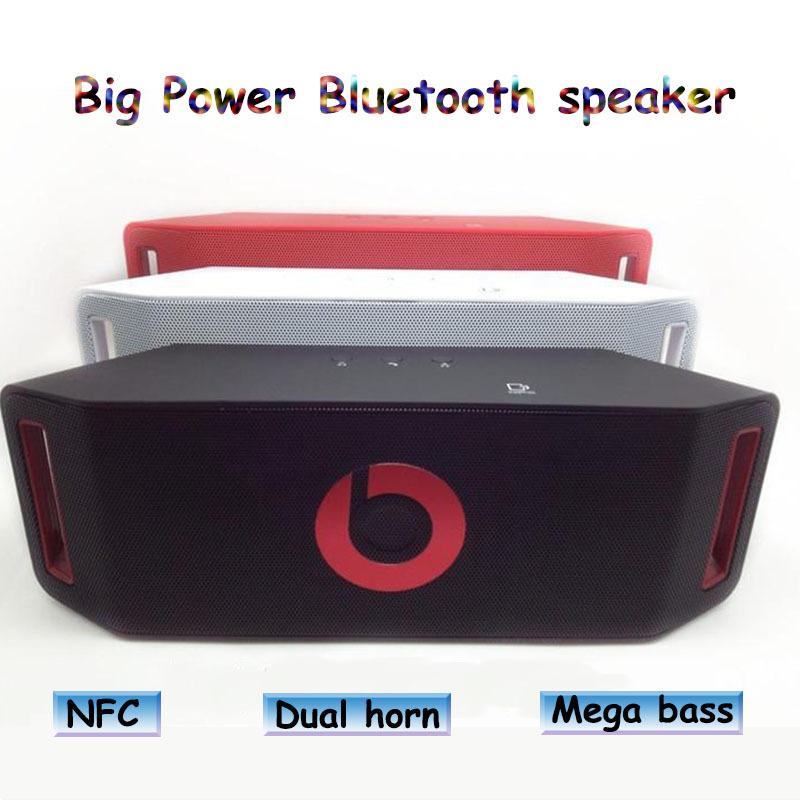 Double horn Bluetooth speaker Portable Wireless speaker Support TF/SD/FM/NFC/USB subwoofer HIFI 3D stereo Speaker Music player(China (Mainland))