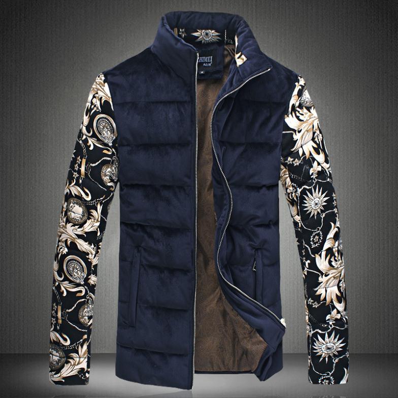 Winter 2014 Men's Jacket Men Coat Cotton-padded Parka Pleuche Patchwork Plus Size Clothes - AOXUAN CLOTHING CO.,Ltd store