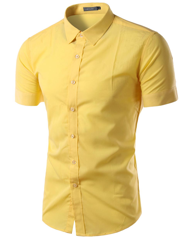 Yellow mens dress shirts