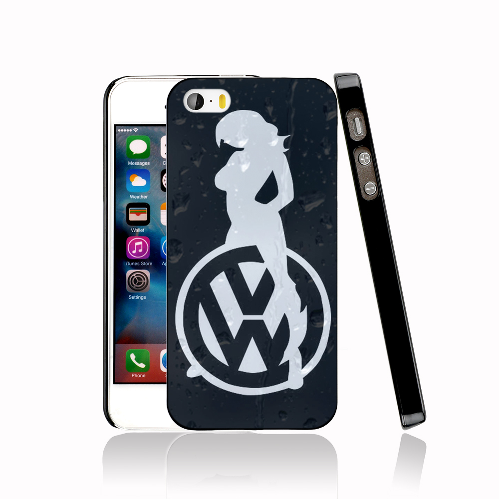 13402 Sexy Girl Logo Car VW Golf protective Cover cell phone Case for iPhone 4 4S 5 5S 5C SE 6 6S Plus 6SPlus(China (Mainland))