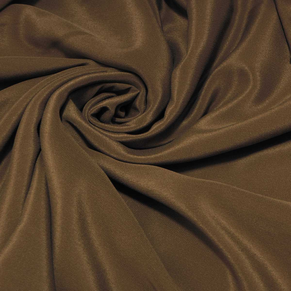 MILK CHOCOLATE COLOR 114cm Wi2de 12momme 100% Pure Silk Crepe De Chine Fabric by The Meter (1.1 Yard) crepe-854(China (Mainland))