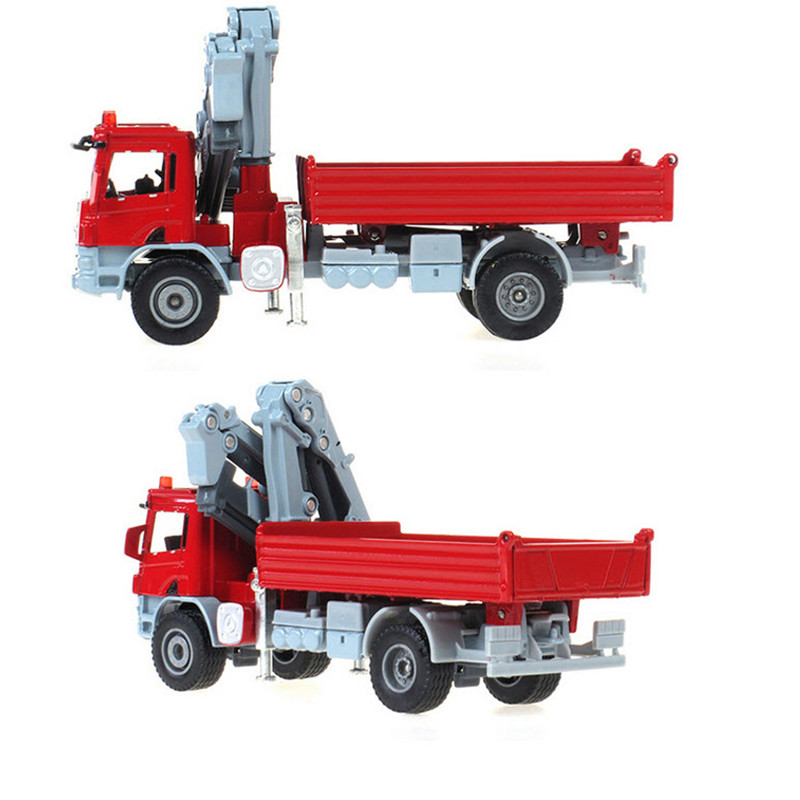 100% Original Alloy Car 1:50 Scale Emulation Die cast metal +ABS Truck with crane model car toy Free Shipping(China (Mainland))