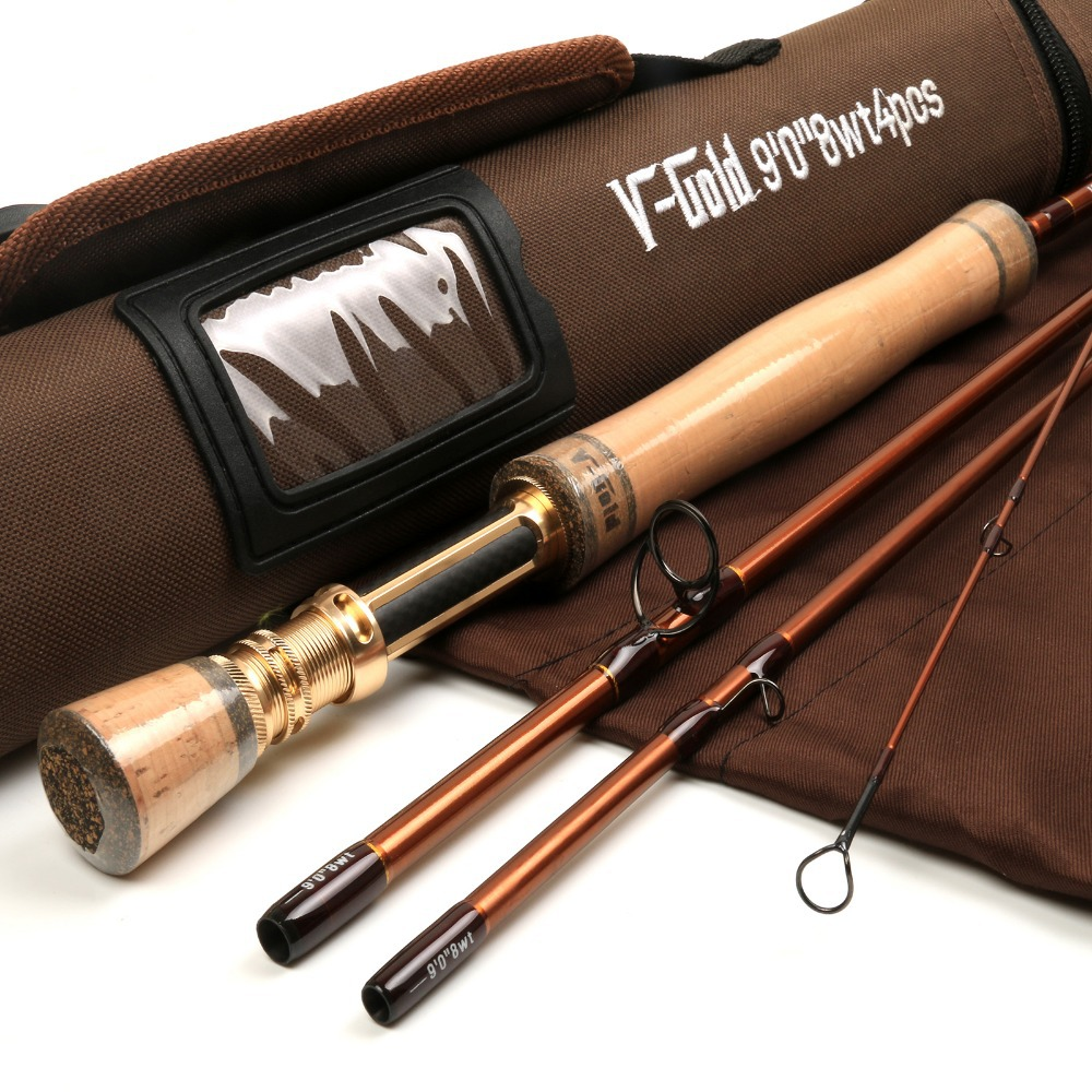 FREE SHIPPING Fly Fishing Rod V-gold 9084 40T Carbon 9FT 8WT 4PCS Fast Action Fly Fishing Rod With A Aluminum Tube Fly Rod(China (Mainland))