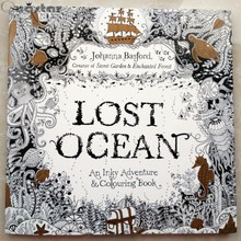 HOT!LOST OCEAN coloring book antistress for children adult relieve stress painting drawing secret garden colouring books 88pages(China (Mainland))