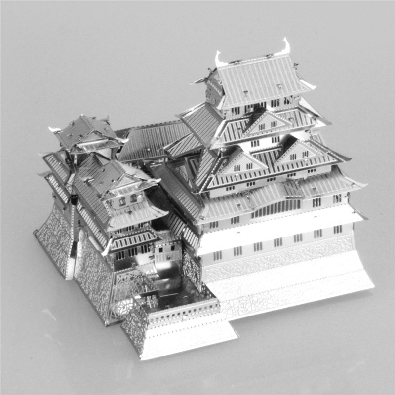 Starz Hime Ji Castle Mini 3D Metal DIY Puzzles Stainless Steel Construction Toys Model Craft Building Kits Gifts(China (Mainland))