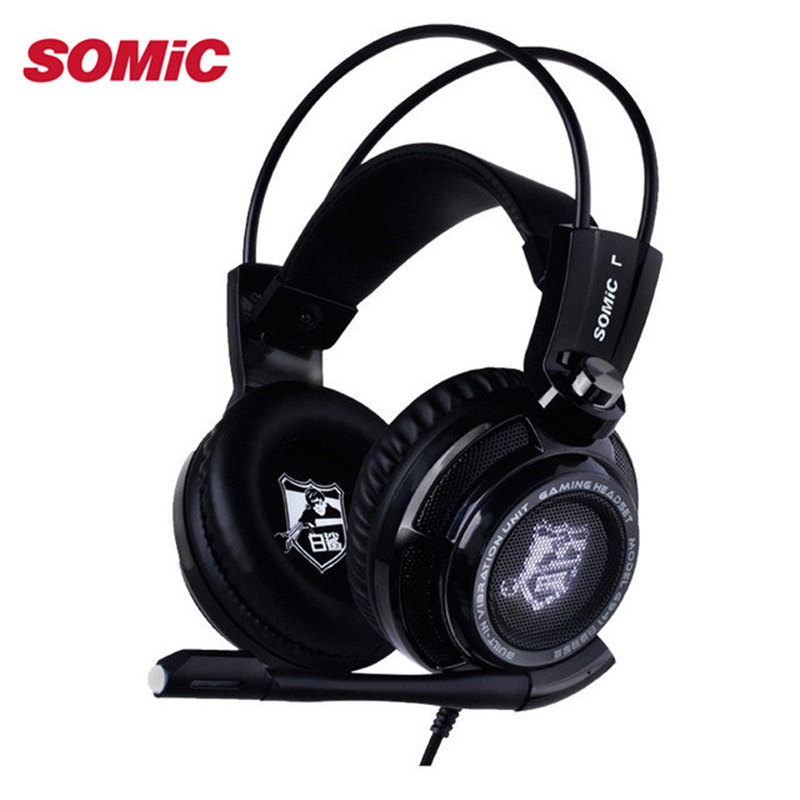 Original Somic G941 E-Sports Game Headset Bass Stereo Surround Sound Music PC USB Gaming Headphones With Microphone For Laptop(China (Mainland))
