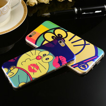 Cat case Colorful Artist Pattern Back Cover Slim Clear TPU Frame Shockproof Cover Bag For iPhone 6 6S 4.7inch/6S Plus 5.5inch