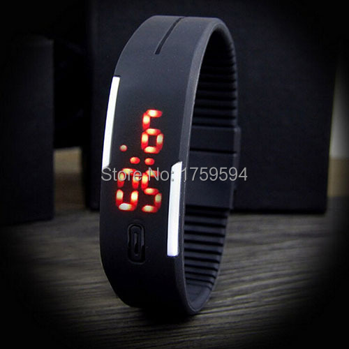 Super Cheap High Quality fashional Bracelet Sports Watch Wristwatch Bracelet Wristband Digital watch Led watch free shipping(China (Mainland))