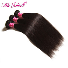 Grade 7A Unprocessed Indian Virgin Hair Weft Straight Indian Hair 3 Bundles Human Hair Weave Natural Black Long Hair Extensions(China (Mainland))