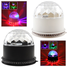 Auto Sound Activated  Crystal Magic Rotating Ball Effect RGB LED Stage Lights for KTV Xmas Party Wedding Show Club Disco DJ