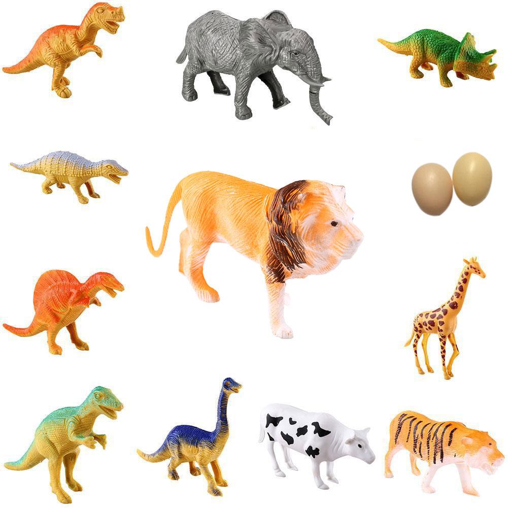 Baby Kids Farm 12pcs Wild Animal Plastic Dinosaur Figure Classic Toys Gift(China (Mainland))