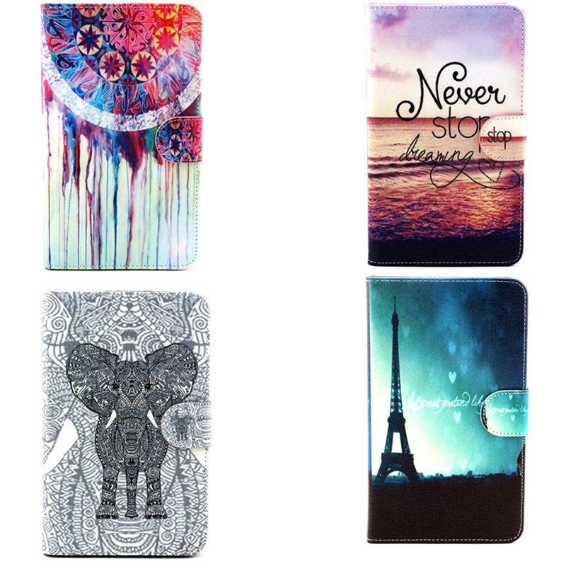 Wholesale YH PU leather Cute OWI Stand case for Samsung Galaxy tab 4 7.0 T230 T231 T235 tablet  book cover skin with Card Slot<br><br>Aliexpress